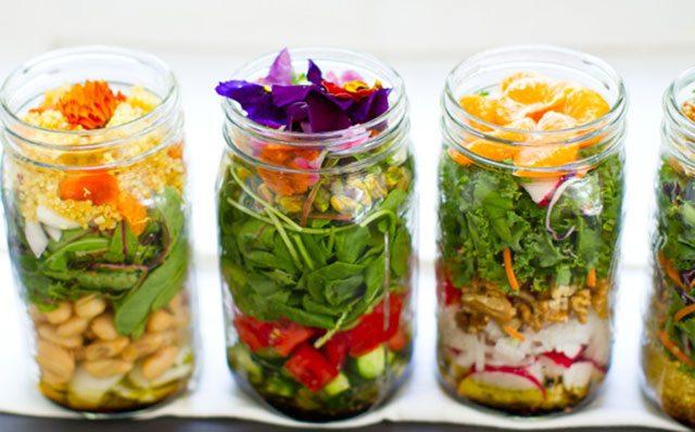 Kale salad mason jar recipe