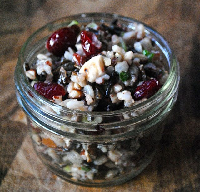 Wild rice salad mason jar recipe
