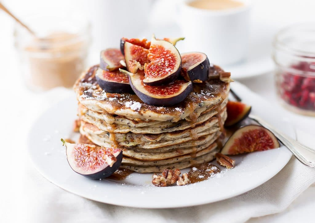 Poppy Seed Fig Pancakes