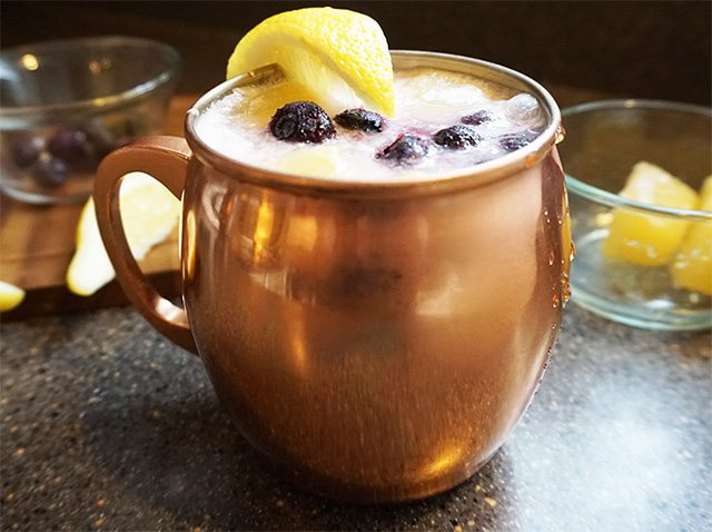Lemon blueberry colada