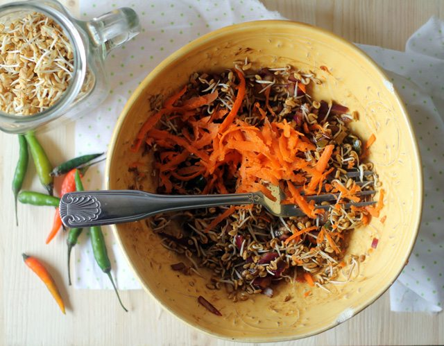 Sprouted Fenugreek Salad