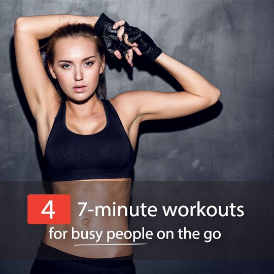 Don't have time for a long, intense workout? Try these incredible 7-minute workouts for busy people on the go!