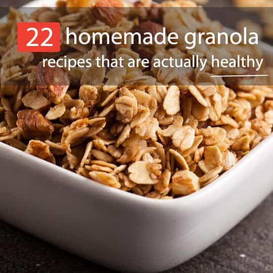 Not all granola is healthy. Most store-bought granolas are loaded with sugar and unhealthy fats. Instead, check out these 22 healthy homemade granola recipes.