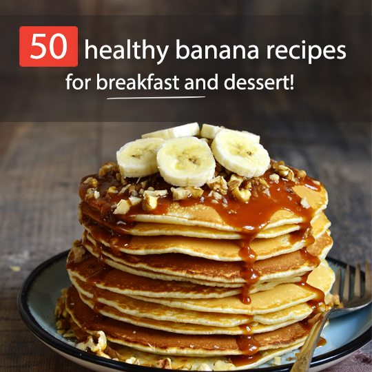 You'll never throw out an old banana again with these 50 creative healthy banana recipes for breakfast and lunch!