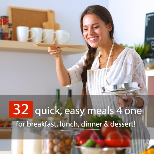 Don't be scared of cooking for one! Check out these quick, simple recipes for breakfast, lunch and dinner...