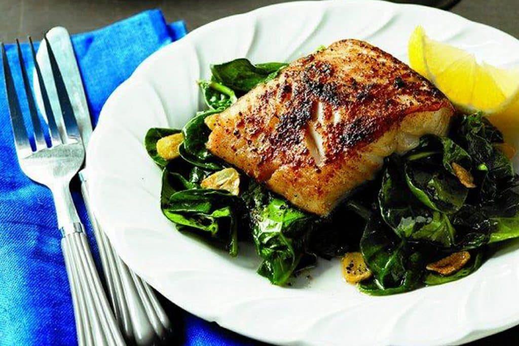 Porcini crusted black cod