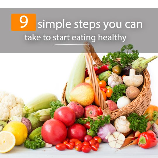 Simple changes you can make to start eating healthy...