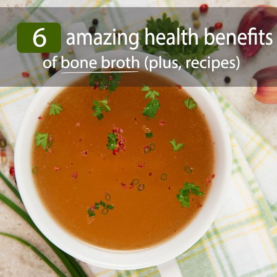 Bone broth is simply homemade stock made from boiling and simmering animal bones/ligaments. See the top 6 reasons to add bone broth to your diet. Plus, recipes!