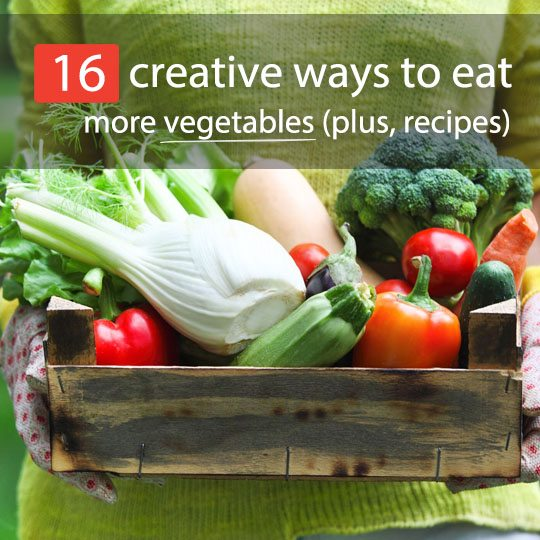 How many veggies did you eat today? One salad? While it's better than nothing, it's far from the recommended amount. See 16 creative ways to eat more vegetables
