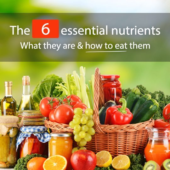 What are the 6 essential nutrients and how to know if you are consuming them