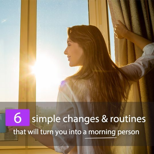 All it takes is a few simple added and changed routines and habits to become one of those bubbly morning people you envy! Check out this guide...