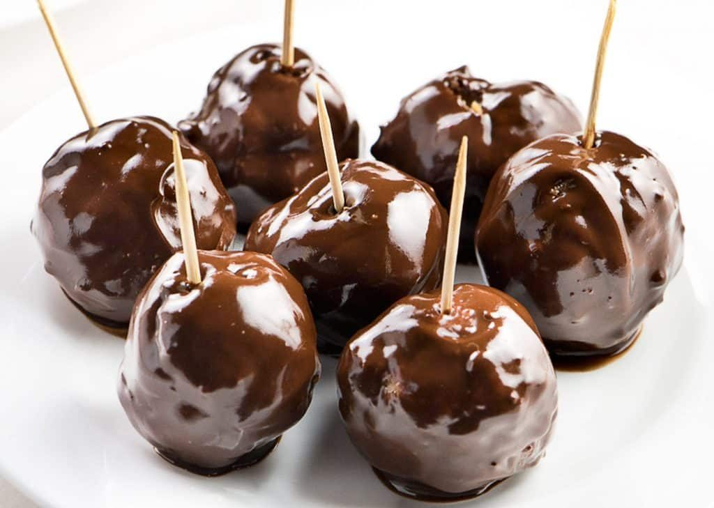 Chocolate covered energy balls