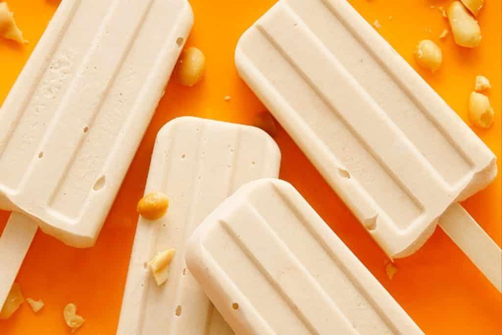 Creamy PB banana pops
