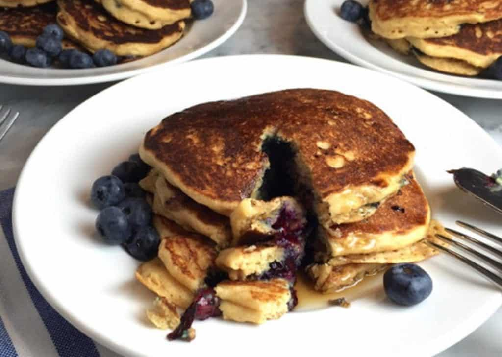 Oatmeal blueberry pancakes