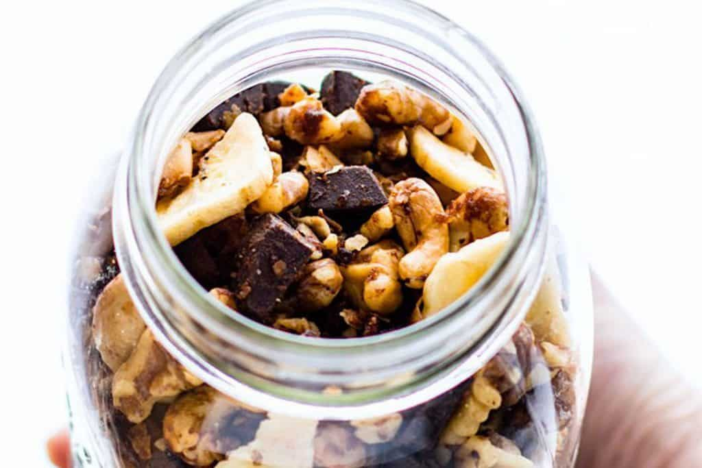 Chunky monkey paleo trail mix