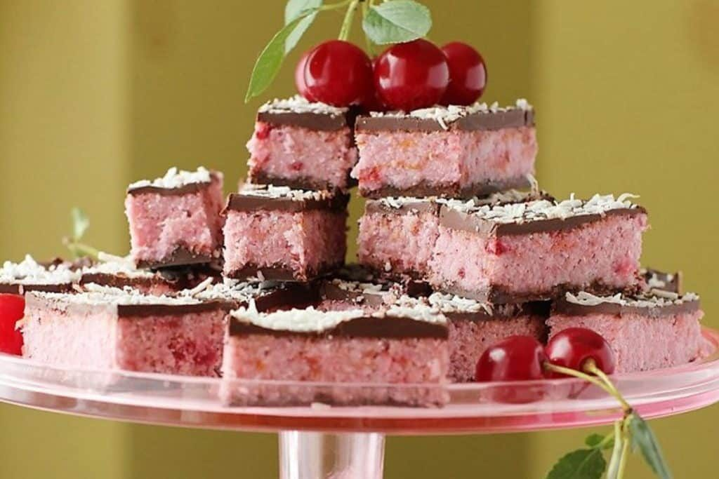 Coconut and cherry bars