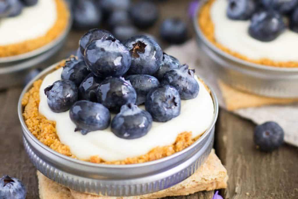 Blueberry & lemon tart