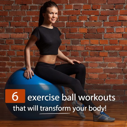 Exercise ball workouts to target your whole body - with videos!