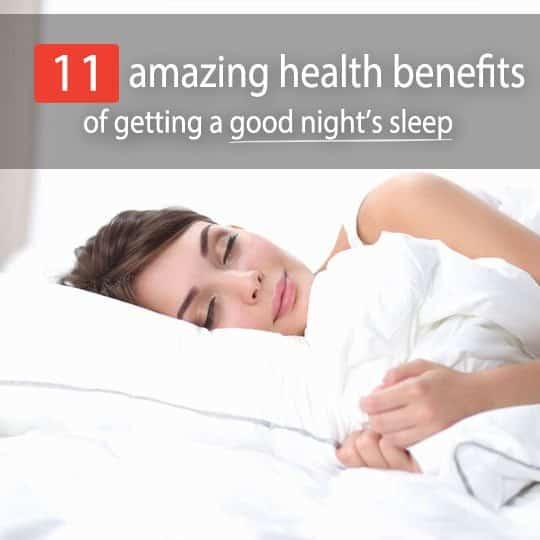 Sleep your way to better health and overall life success! Read on to find out the top 11 benefits of sleep -- both in quantity and quality.
