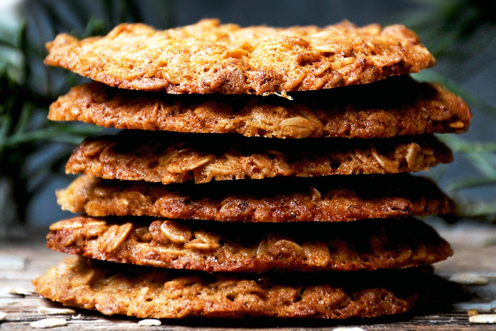 Honey oat cookies