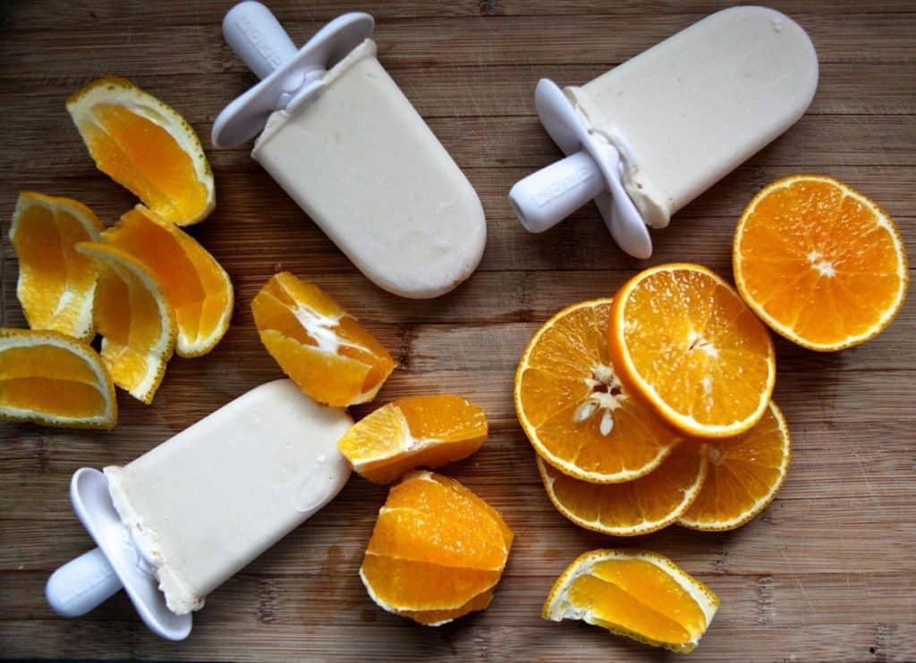 Coconut Milk Orange Creamsicles