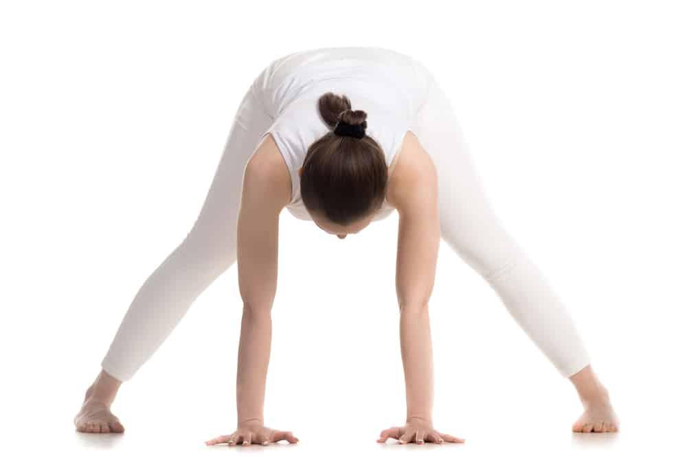 wide-legged forward fold