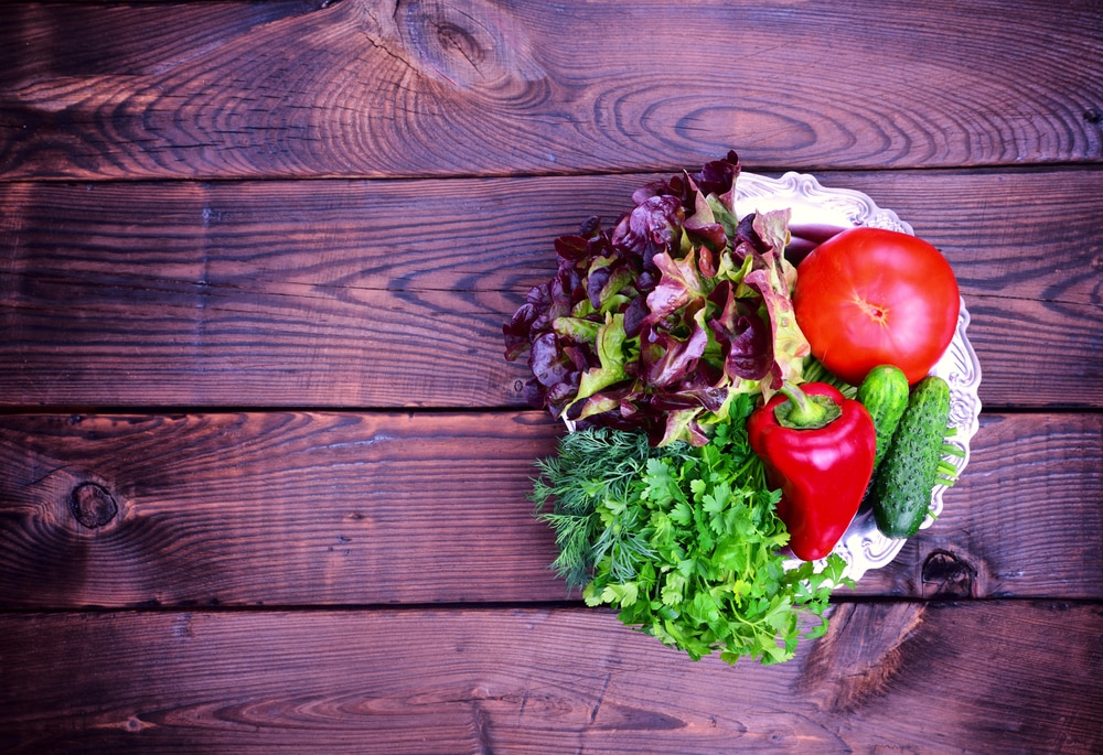 Eat plenty of fresh produce on the Mediterranean diet.