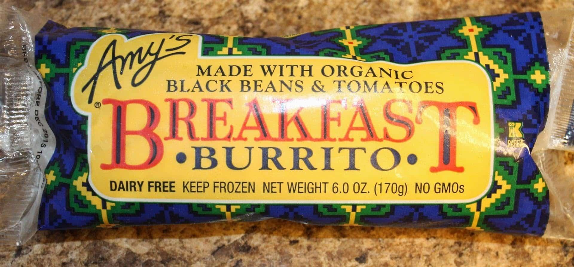 Amy's Breakfast Burrito Health Frozen Foods