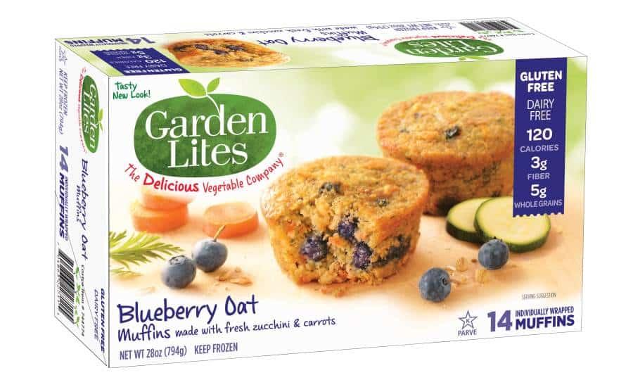 Garden Lite Gluten-Free Blueberry Oat Muffins Health Frozen Foods