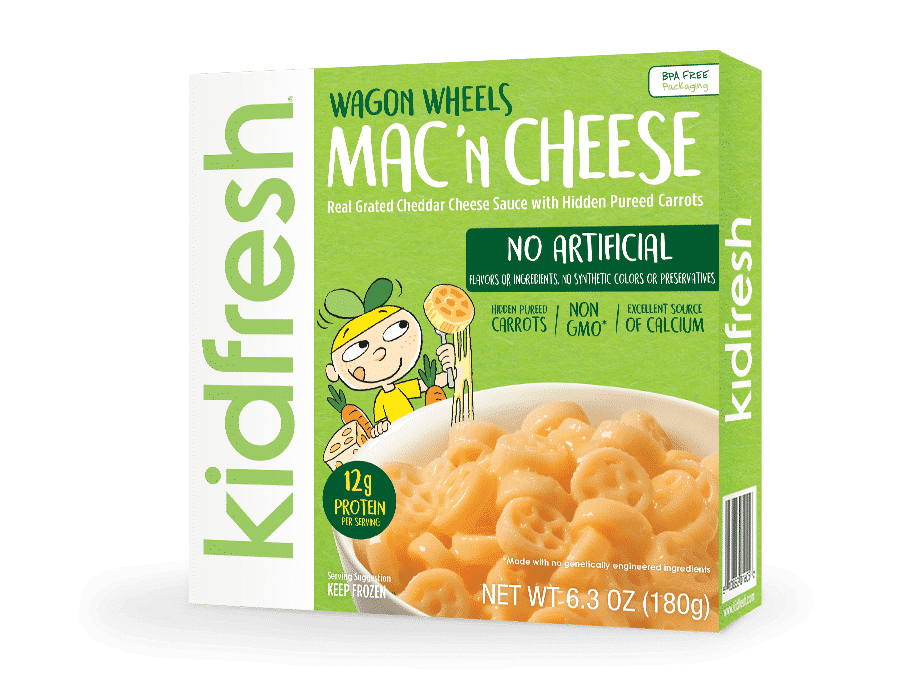 Kidfresh Wagon Wheels Mac 'N Cheese Health Frozen Foods