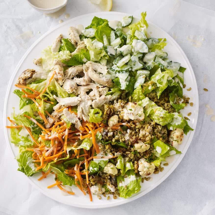 Starbucks Za'atar Chicken Lemon Tahini Salad health fast food