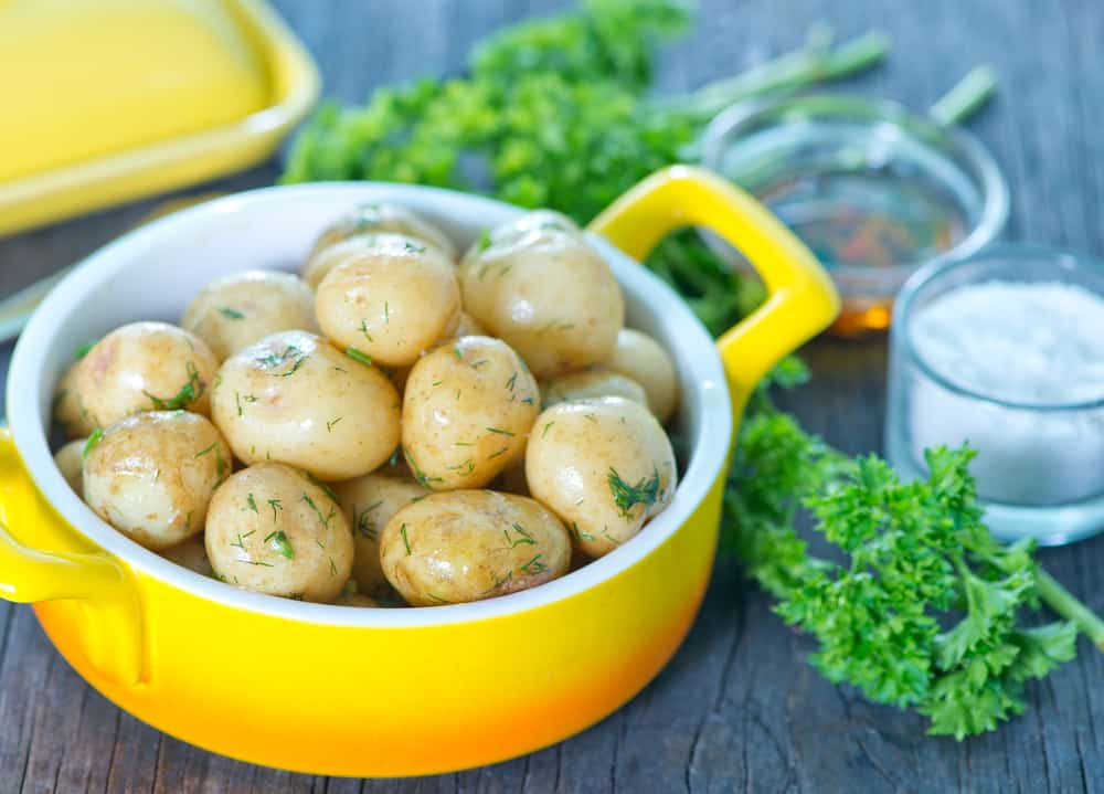 Boiled potatoes food for upset stomach