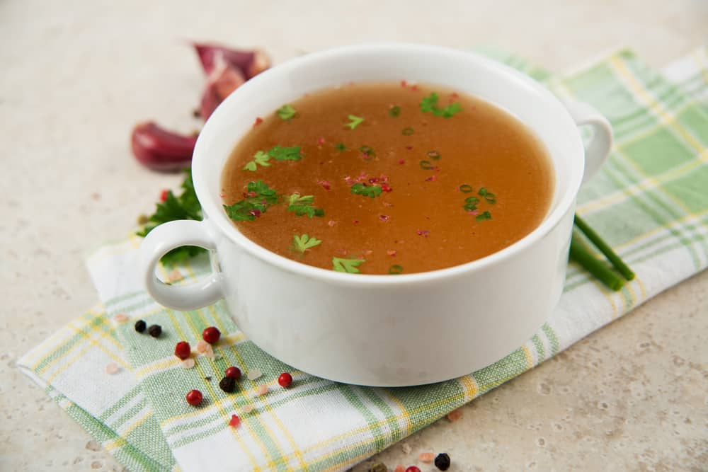 Bone broth food for upset stomach