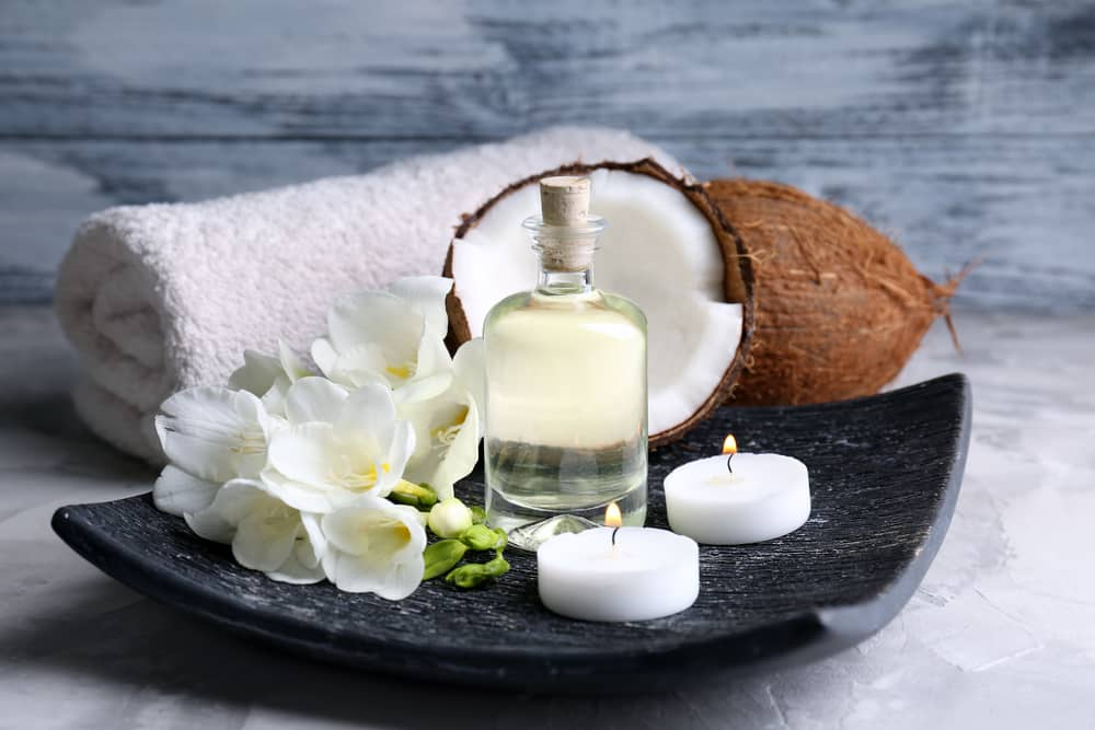 mixture coconut oil for hair