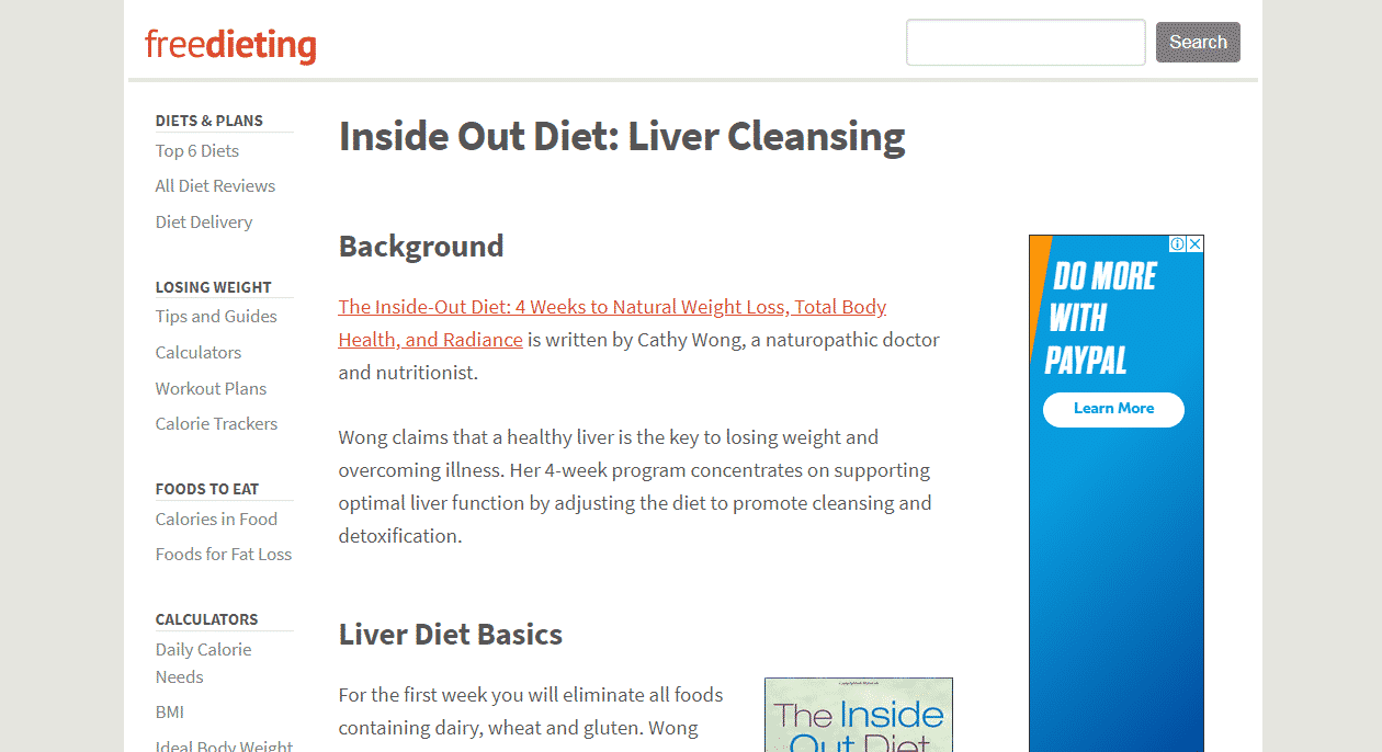 Inside Out Diet Liver Cleansing