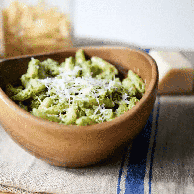 Nutty Arugula Pesto with Penne
